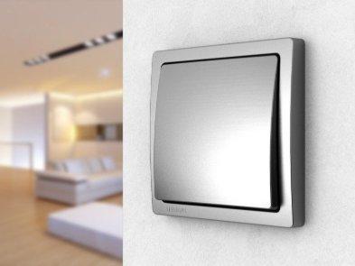 Выключатель света в интерьере жилища