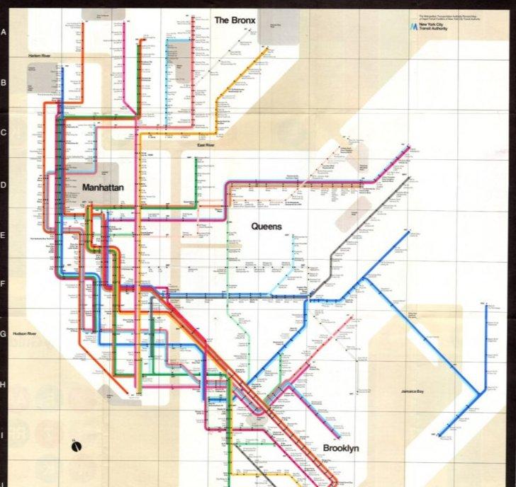 Карта метро Нью-Йорка, 1972 рік