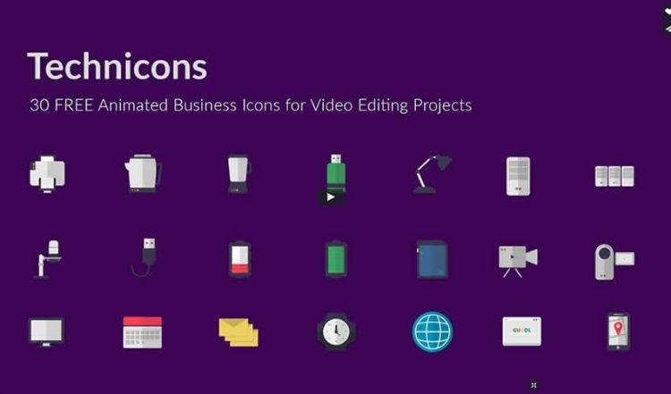 Три ресурса с паками анимированных иконок