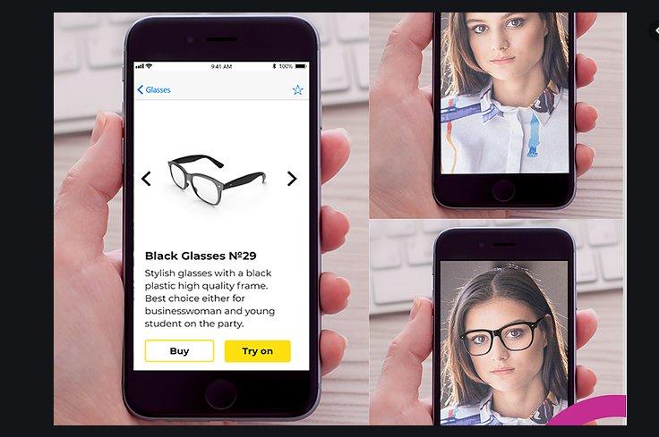 Украинцы из Zirity разработали технологию, которая позволяет примерять очки онлайн.