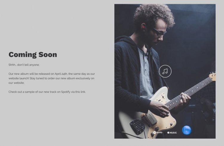текст сайта в разработке