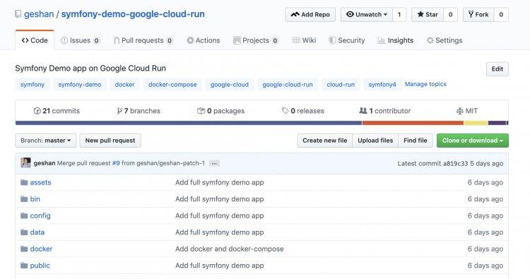 Как запустить Symfony в Google Cloud Run с демонстрационным приложением
