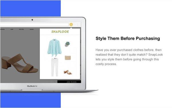 SnapLook: віртуальна примірочна для інтернет-магазинів