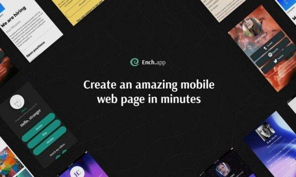 Ench: конструктор сайтів для смартфонів