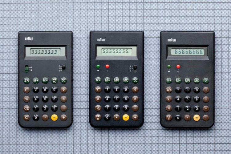 Калькулятор Braun, 1987 рік