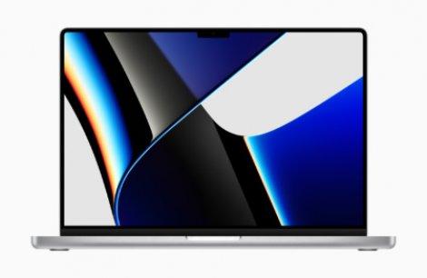 Живая демонстрация «челки» на новом MacBook Pro