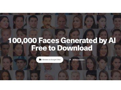 ИИ сгенерировал 100 тысяч человеческих лиц для использования в дизайне и СМИ