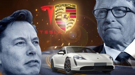 Билл Гейтс выбрал Porsche Taycan своим первым электромобилем. Конечно же, это задело главу Tesla Илона Маска