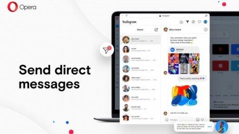 Opera 68 отримала підтримку Instagram в боковому меню