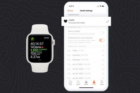 Приложение Strava получило поддержку Apple Health