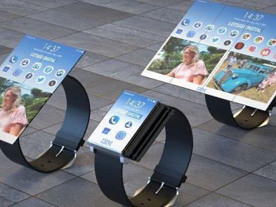 IBM запатентовала странные складные часы, превращающиеся в планшет