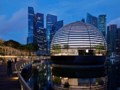 Apple Marina Bay Sands открывается в Сингапуре