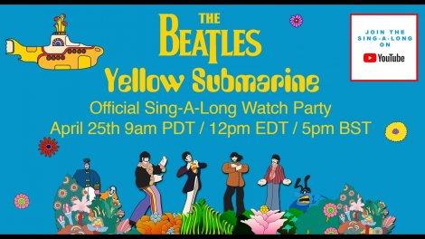 В субботу на YouTube выйдет восстановленный музыкальный фильм The Beatles «Yellow Submarine» в караоке-формате Sing-A-Long