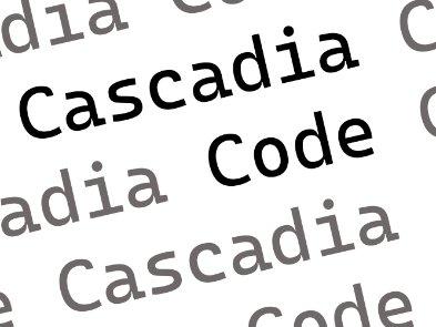 Microsoft представила открытый шрифт Cascadia Code для эмуляторов терминалов и редакторов кода