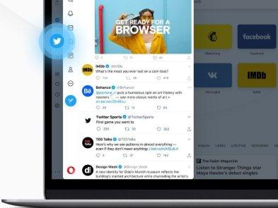 Opera интегрировала Twitter в десктопную версию браузера