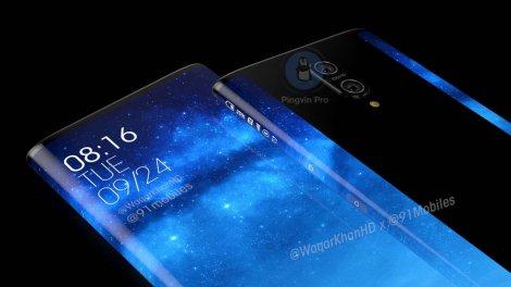 Xiaomi Mi Mix 4 показали на концептуальних рендерах