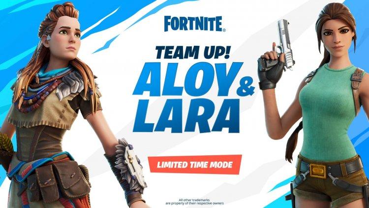 Элой и Лара в Fortnite