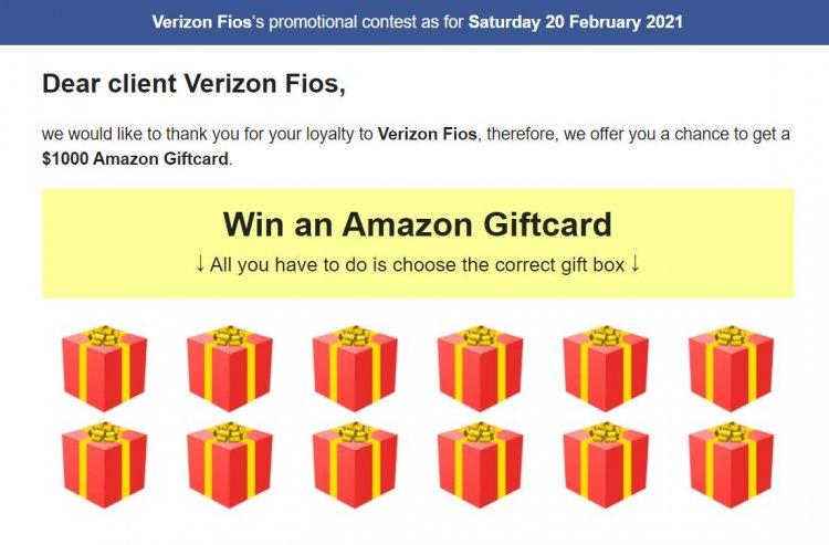 Поддельное мошенничество с раздачей Amazon