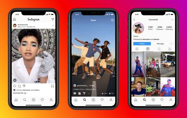 Instagram запустила конкурента TikTok