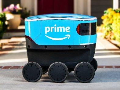 Amazon: автономный робот доставляет заказы клиентам