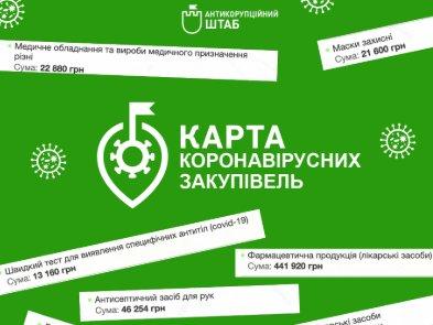 В Україні запустили онлайн-карту коронавірусних закупівель
